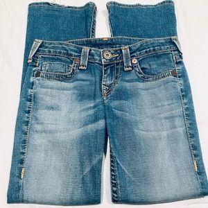 True Religion light wash bootcut jeans size 28